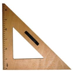 Ξύλινο ισοσκελές τρίγωνο 45°/45°/90° για πίνακα