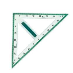 Πλαστικό ισοσκελές τρίγωνο 45°/45°/90° για πίνακα