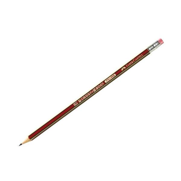 Μολύβι Faber Castell Dessin 2001 HB με Γόμα