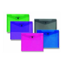 Διαφανής Φάκελος Α5 με κουμπί σε διάφορα χρώματα