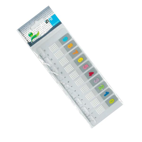 Αυτοκόλλητοι σελιδοδείκτες με αρίθμηση 12mmx44mm