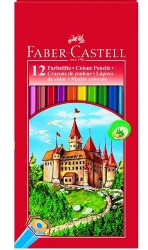 Ξυλομπογιές Faber Castell 12 χρώματα.