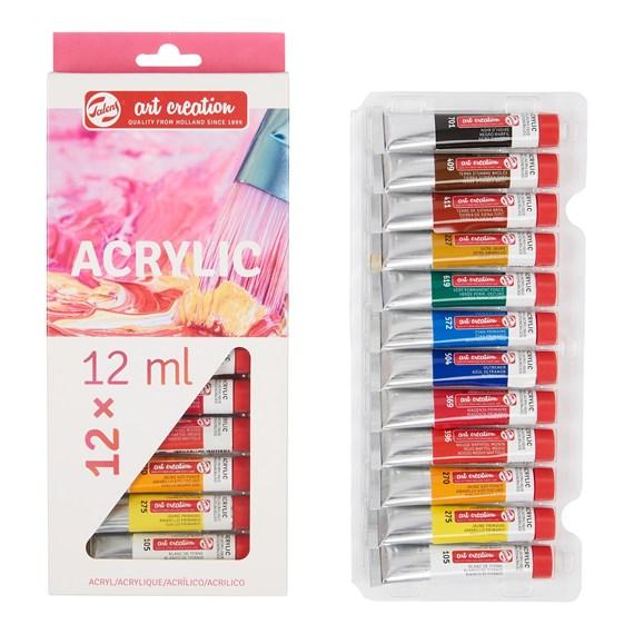 Ακρυλικά χρώματα Talens 12 x 12 ml