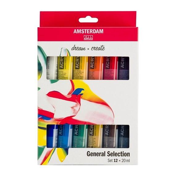 Ακρυλικά χρώματα Talens Amsterdam (Acrylic Set) 12 x 20ml