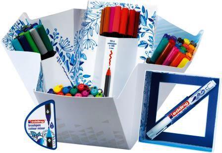 Μαρκαδόρος πινέλο – edding 1340/69 brush-pen με μείκτη . Σετ ζωγραφικής