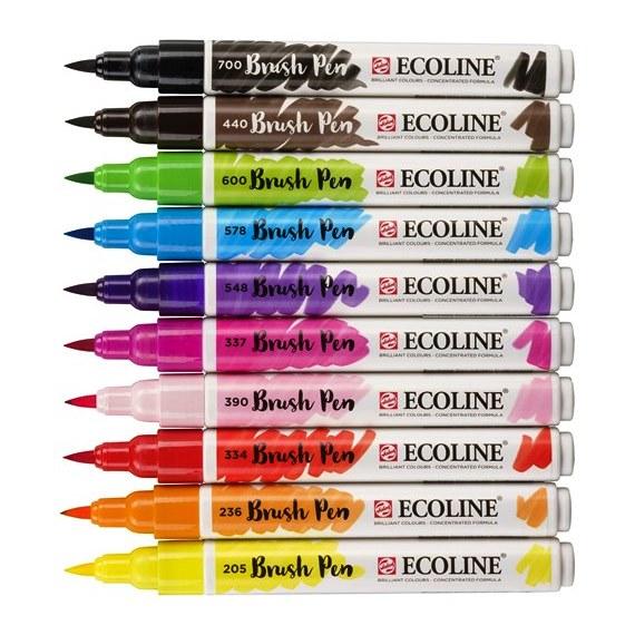 Μαρκαδόροι πινέλο Talens Ecoline brush pen bright σετ 10 τεμ