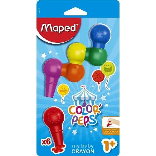 Κηρομπογιές color'peps baby 6 τμχ
